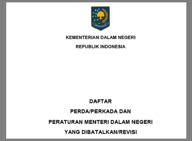 3143 Perda yang Dibatalkan Pemerintah
