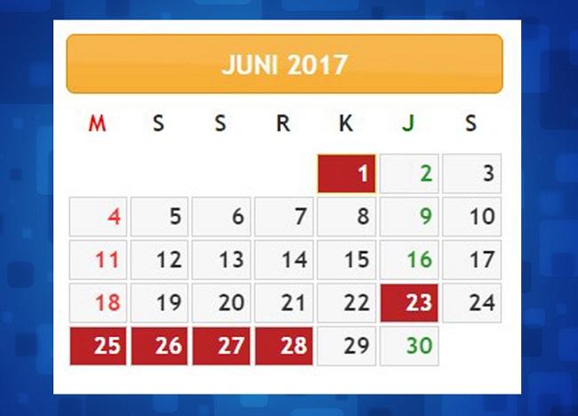LIBUR JUNI 2017