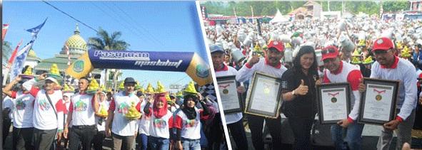 Kabupaten Pasuruan Terima MURI Festival Nongkojajar