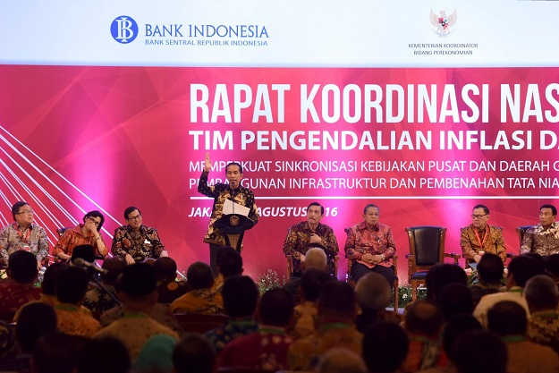 Presiden Jokowi di Rakor Inflasi di Sahid Hotel Jakarta