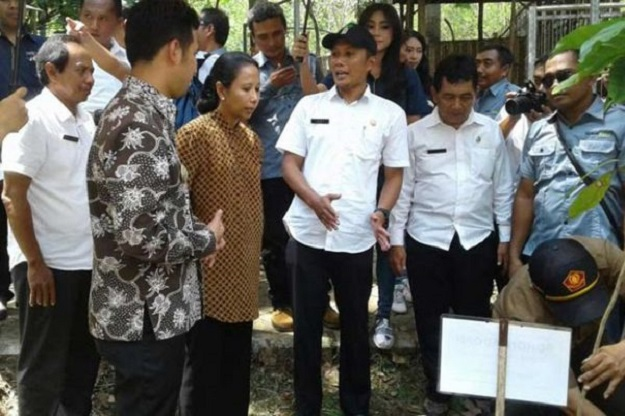 Menteri BUMN Rini Sumarno saat berkunjung ke Kabupaten Trenggalek