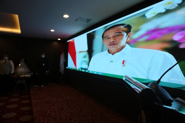 Presiden Minta Para Bupati Jaga Kesehatan Masyarakat dan Pulihkan Ekonomi Nasional di Syukuran HUT Ke-21 Apkasi